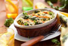 Przepis na Zapiekany łosoś z brokułami