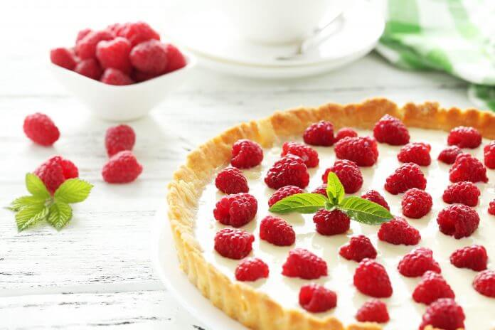 Przepis na tarta z malinami