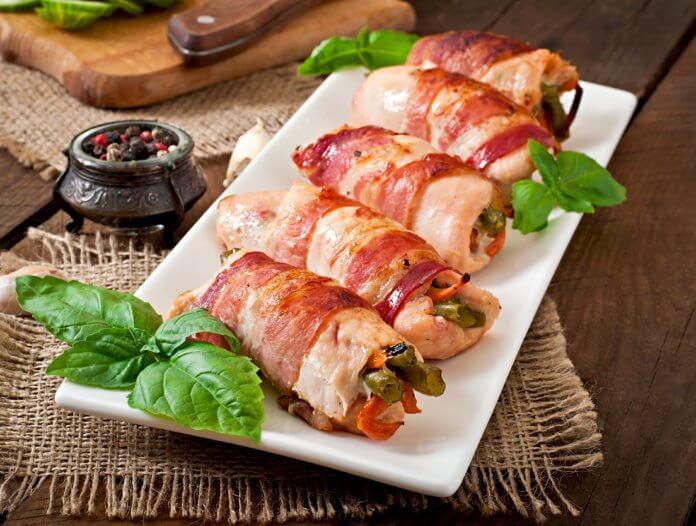 Przepis na roladki z kurczaka faszerowane fasolką szparagową